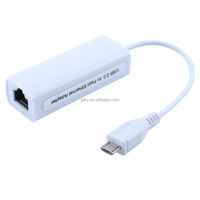 Free driver Micro USB 2.0 to RJ45 Lan Network Ethernet Adapter Card 100Mbps for Mac OS Android SmartTV Tablet Laptop