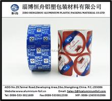 bunten drucken aluminiumfolie deckel für Milchprodukte verpackung