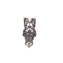 Hot Sale Factory Hollow Long Decorative Wholesale Silver Diamond Ring