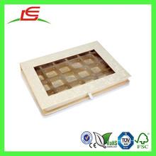 Q1263 China Lemon Chiffon Colour Chocolate Box For Wedding Invitation In Rectangular Shape