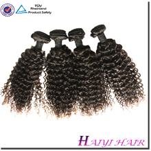 Top quality unprocessed natural raw virgin super curly indian remy hair wefts