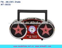 Mini portátil am fm antiguos sw radio con usb/reproductor sd