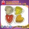 heart shape mini fruit jelly lychee pudding with nata de coco