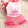 dog clothes dress pink crown princess dog dress