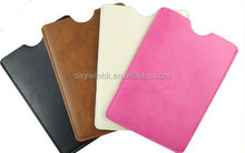 Convenient carrying PU leather tablet sleeve for 7 inch tabet pc