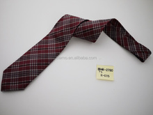 High quality plaid design Scotland tartan pattern silk ties