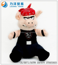 Plush pig with hat for kids, Customised toys,CE/ASTM safety stardard