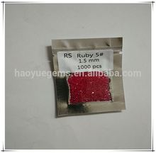 factory hot sale #5 ruby 1mm round diamond s ruby stone loose diamond/Synthetic Cubic Zirconia Wholesale