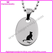 IJD2454 oval engrave dog stainless steel dog tag pendant for best friend