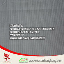 2015 China Hotsale cotton soft grey poplin stripe shirt textile