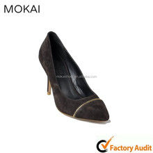 MK037-11-Brown sexy fashion high heel ladies dress shoes