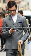 traje cruzado de moda para hombres