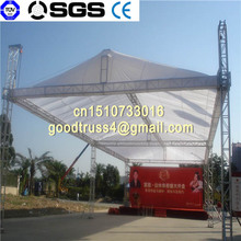 Square truss system with stage and tent roof