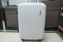 Classic White Pure Color Aluminium Frame Luggage Trolley Suitcase