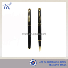 Black Golden Part Metal Roller Ballpoint Pen