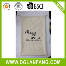 2016 new arrived Customized Promotion cotton canvas drawstring shopping bag with embroidery logo 20150723111