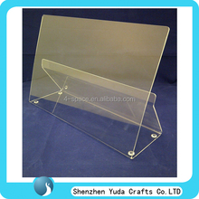 Factory directly acrylic bookends plexiglass book shelf display acrylic catalog rack