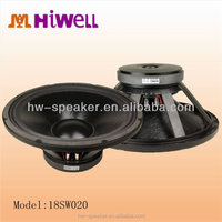 Subwoofer LOW FREQUENCY PROFESSIONAL LOUDSPEAKER 18 inch audio speaker