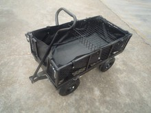 foldable side garden cart with waterproof liner and mesh basket 1840