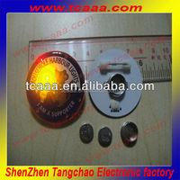 flashing novelty custom plastic pins round badges
