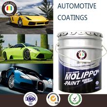 Impact resistant metallic colors car paint white