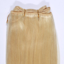 High Quality Human Brazilian Virgin Remy Gold Yellow Hair Extension Blond