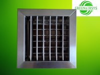 Stainless Steel Louvered Air Diffusor with Air Conditioning Damper