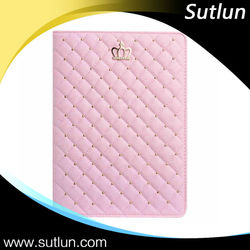 Bling Rhinestone Crown Tablet Leather Flip Case For Apple iPad 2 3 4 iPad Air Air 2 mini 1 2 3