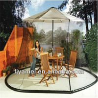 Black Outdoor Umbrella Mosquito Net Canopy Patio Set Screen 9x11