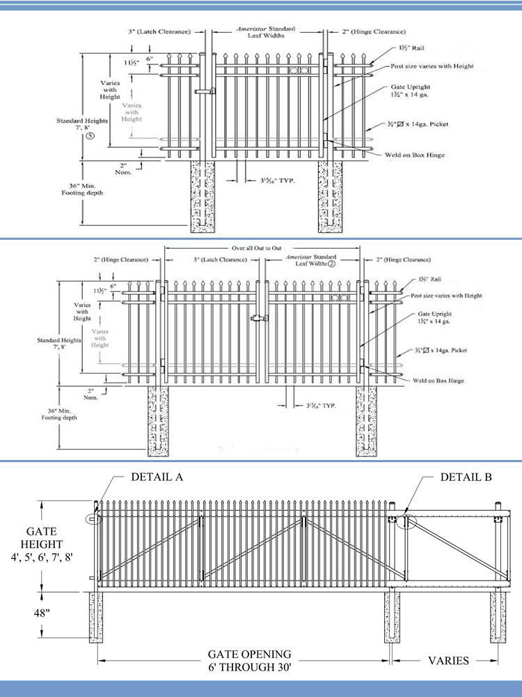 Steel Grating Fence/modern Gates And Fences Design/heavy Duty Steel ...