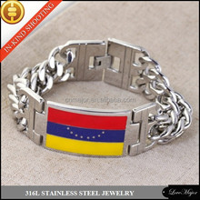MAJOR MJMB-125 Stainless steel bracelet with curved plate resin dripping for men