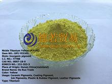 De alta temperatura de recubrimiento en polvo( p. De y. 53) pigmento níquel titanio pigmento amarillo