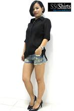 los modelos sscshirts blusa con cordones