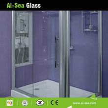 House/Hotel Shower Glass Sliding Door Customized Tinted Frosted Shower Screen Glass