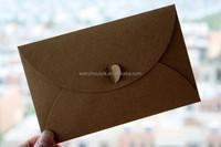 Custom Colorful kraft high quality iridescent paper love heart locked envelope