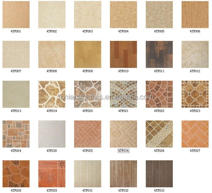 Tonia 40x40 New Model Gres Tile Design Vintage Ceramic Floor Tiles ...