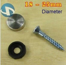 Alibaba Factory Stainless Steel Glass Spacer,plated fastener,screw caps