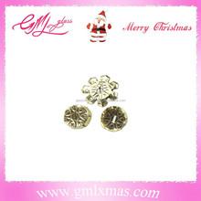 Glass Decoration christmas glass ball cap,popular mini metal cap and aluminum cap for ball ornaments