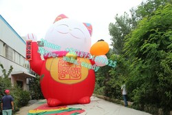10m high inflatable fortune cat for decoration
