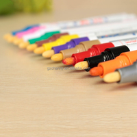 1pcs Brand New Colorful Permanent Paint Drawing Pen Car Outdoor Marking Ink Marker 12 Colors Fit For Painting