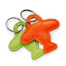 The Shaped of Airplane Leather Key Chain for Promotion Gift
