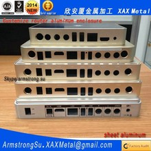 XAX537Alu OEM ODM customized laser cut bend weld plate aluminum led enclosure Router box