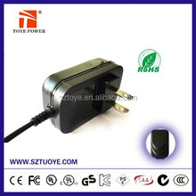 Constant current 12v 1.0a AC power Adapter with TUV GS CE certificates for Europe market