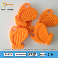 Bpa Free Silicone Harp Shape Baby Teether, Latest Design Soft Teething Toy Teether, Teether Pacifier Producer