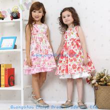 Summer new styled frock sleeveless design cotton dress for baby girl