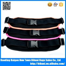 Alibaba new products 2015 fashion sports waist pack running belt with reflective artice money belt