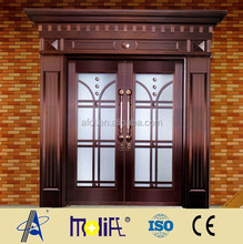 Zhejiang afol luxury and new design High Quality Promotion restaurant glass copper door