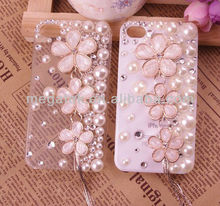 Mobile phone accessories phone case luxury bling bling rhinestone jewelry phone cover for iphone galaxy
