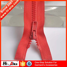 hi-ana zipper3 Globally integrating manufacturing process hot selling zipper ykk