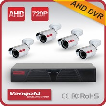 AHD Kit 720P 4CH P2P AHD Camera System with mobile remote access